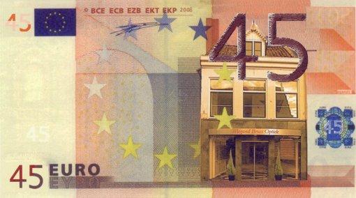 45 euro biljet